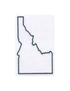 Idaho State Stencil Made from White 4 ply Mat Board