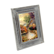 Mochiglory Desktop Retro Style Handcrafted Solid Wood Photo Picture Frame Collage