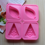 Always Your Chef Silicone Leaves Shaped Soap Moulds Cupcake Moulds Chocolate Moulds, Random Colours