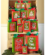 42-Pc. Holiday Cheer Gift Bag Sets