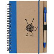 Knit Happy Eco Journal W/Pen-Blue