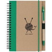 Knit Happy Eco Journal W/Pen-Green