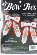 Starbursts Mini Bow Tie Tree Ornaments Cross Stitch