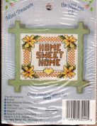 "The New Berlin Co ""HOME SWEET HOME"" Counted Cross Stitch Magnet Kit No. 3020"