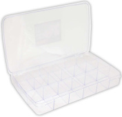 HAWK Clear Polystyrene Storage Box With 18 Sections For Storing Small Items