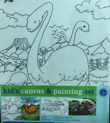 Kid's Canvas & Painting Set 2 Set Washable Kids Playroom Great Activity