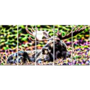 Digital Art PT2421-401 Abstract Moose Large Animal Wall Art
