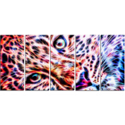Digital Art PT2460-401 Cheetah face Animal Canvas Art