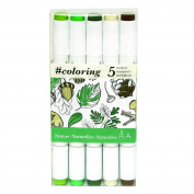 """Art Alternatives #colouring - Professional, Alcohol Based, Colouring Markers, 5 Forest Colours Ideal for the Johanna Basford Colouring Canvas """"Enchanted Forest"""""""