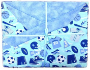 Baby Jock Sports Baby Blanket Blanket for Boys. Great for Newborn or Toddler. Baby Gift.