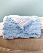 Faux Fur Sherpa Backed Baby Blanket