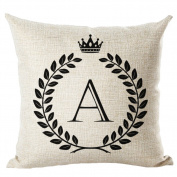 Letter Printed Cushion Cover LivebyCare Linen Cotton Throw Pillow Case Sham Pattern Zipper Pillowslip Pillowcase For Home Sofa Couch Chair Back Seat