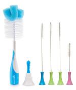 Munchkin Sponge Bottle Brush with Cleaning Brush Set, Blue