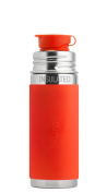Pura Sport 270ml Stainless Steel Insulated Kids Sport Bottle with Silicone Sport Flip Cap, Orange