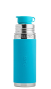 Pura Sport 270ml Stainless Steel Insulated Kids Sport Bottle with Silicone Sport Flip Cap, Aqua