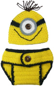 Nappy Cover and Hat Set, Minion Inspired, Handmade For Boy or Girl Size NB - 3MO