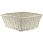 Large Willow Basket WHITE