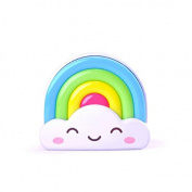 Sun4U LED Baby Night Light Rainbow Toddler Nightlight With Light Sensor - Plug In Wall Light Lamp