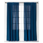 New Curtain Panel Linen-Look - Blue 140cm x 210cm