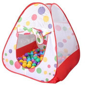 Pep-Baby® Children Play Tent Indoor and Outdoor Easy Folding Polka Dot Ball Pit Play House Baby Beach Tent with Zippered Storage Bag for Kids