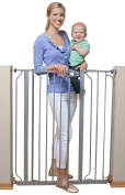 Regalo Deluxe Easy Step Extra Tall Walk Thru Baby Pet Child Toddler Dog Safety // The deluxe easy steps extra tall safety gate with premium stands 100cm tall