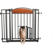 Home Decor Auto-Close Walk-Through Pet Gate by Carlson Pet Products, Ideal for cats and dogs