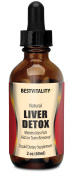 BestVitality -Natural Liver Detox-Metabolised Fats and Aids in Toxin Removal-With B 12 and Folic Acid. Liquid Dietary Supplements.Orange flavour