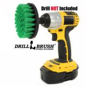 Drill Powered Spinning Detailing Nylon Scrub Brush with Quarter Inch Quick Change Shaft
