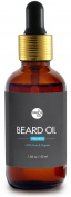 Organic Premium Beard Oil - 100% Pure & Natural - Promote Beard Growth, Hydrates & Softens, Reduce Beard Itch
