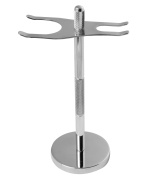 Safety Two-In-One Razor and Brush Stand - Prolongs the Life of Shaving Brush - Stainless Steel - Adjustable - By Utopia Care