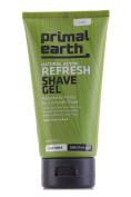 Primal Earth Refresh Shave Gel 140ml (4.7 oz), Twin Pack