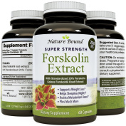 Pure Forskolin Extract - Coleus Forskholli - Doctor Recommended Supplement - Best Natural Weight Loss Product - Supports Metabolism - Appetite Suppressant - USA Made by Nature Bound