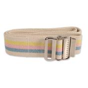 Dynarex Universal Secure Transfer Gait Belt - Soft Machine Washable Cotton Material - 150cm x 5.1cm - Metal Buckle - Multi Colour Stripes