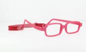 Miraflex New Baby2 Kids Eye Glass Frames | 42/14 Burgundy Pearl | Age:5-8