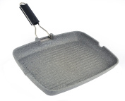 "Mopita Magnum 36cm x 28cm/14.2"" x 11"" Grill Platter with Folding Handle, Large, Grey"