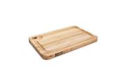 John Boos Prestige Wood Edge Grain Reversible Cutting Board with Juice Groove, 46cm x 30cm x 3.2cm , Maple