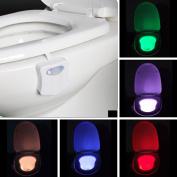 Toilet Nightlight Onever Colourful Motion Sensor Home Toliet Bathroom Human Body Auto Motion Activated Sensor Seat Night Lamp