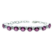 Incredible Sterling Silver Lab Created Colour Change Alexandrite Bracelet, Adjustable From 13cm - 17cm