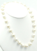 Freshwater White 10 mm -10.5 mm Pearl Necklace 14k Yellow Gold Lobster Lock