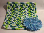 Handmade Crocheted Dishcloth and Scrubbie Set - Poolside / Waves
