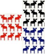 Swedish Dishcloth, Set of 3 Different Colour Moose