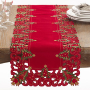 Fennco Styles Pandoro Collection Holiday Christmas Tree Table Runner - 41cm X 170cm