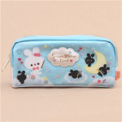 cute blue bunny star glitter pencil case from Japan