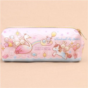 cute pink blue swan rabbit unicorn glitter pencil case from Japan