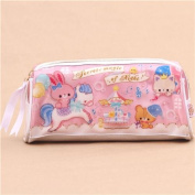 cute pink horse rabbit carousel glitter pencil case from Japan