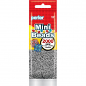 Perler Beads 80-14068 2000 Mini Beads, Grey