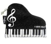 PartyErasers Music Themed Grand Piano shape Keyboard Design Coin Purse