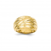 Yellow-gold 14k Polished Scalloped Dome Ring