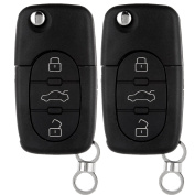 Scitoo 2 New Replacement Keyless Entry Remote Car Flip For 4D0837231E Key FOB Shell Case