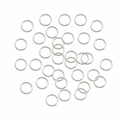 Rockin Beads Soldered Closed 100 Jump Rings, Silver-plated, 8mm Round, 21 Gauge